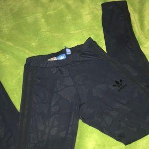 Adidas Navy & Blue Camo Leggings